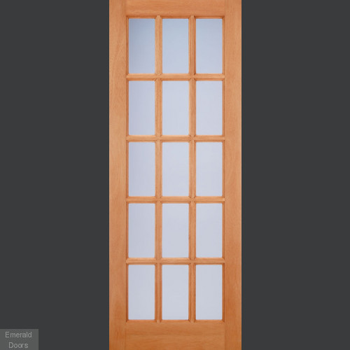 SA77 15 Light Double Glazed External Door with Frosted Glass
