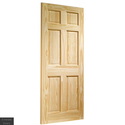 Clear Pine Colonial 6 Panel Fire Door