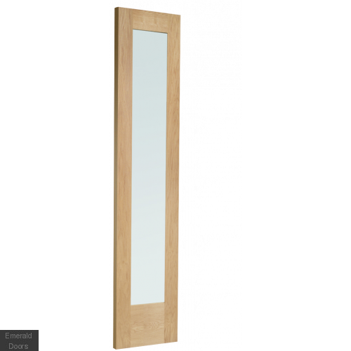 Oak Pattern 10 Panelled French Doors with Side Panels