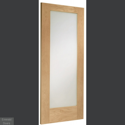 Oak Shaker Pattern 10 Glazed Fire Door