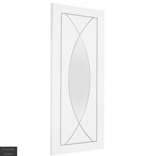 White Treviso Double Door Room Divider with Demi Panels