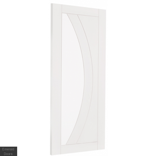White Salerno French Doors with Demi Panels