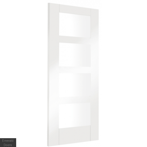 White Shaker 4 Light Single Door Room Divider with Side Panel