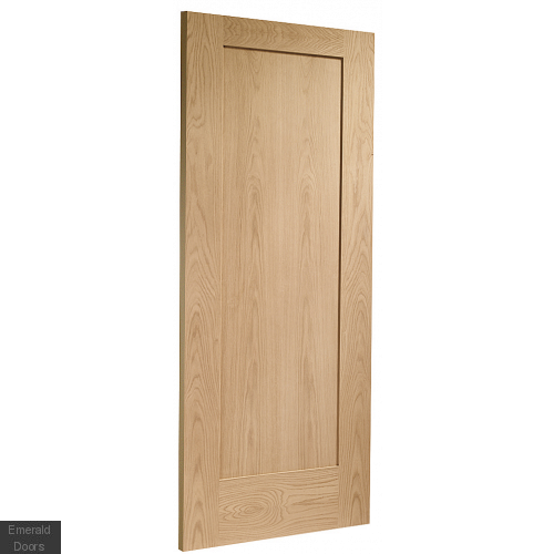 Pattern 10 Internal Oak Door in Roomset