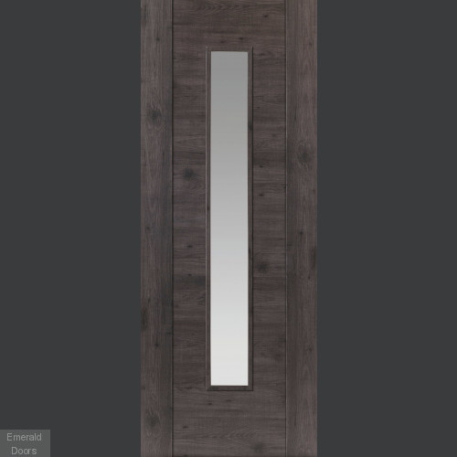 Alabama Cinza Grey Laminate Glazed Door