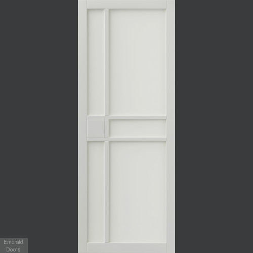 City White Industrial Style Door Pair Fully Finished