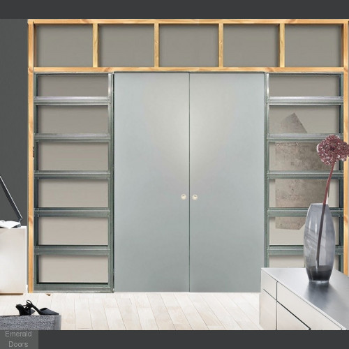 Double Classic Wiring Ready Pocket Door System