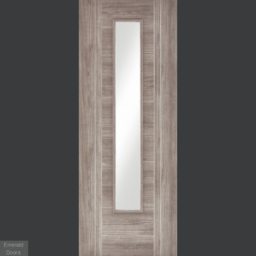 Ottawa Light Grey Laminate Glazed Door Internal Glazed Doors