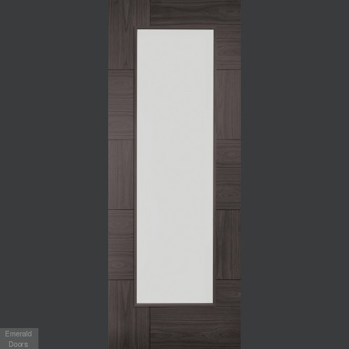 Umber Grey Laminate Ravenna with Clear Glass Door