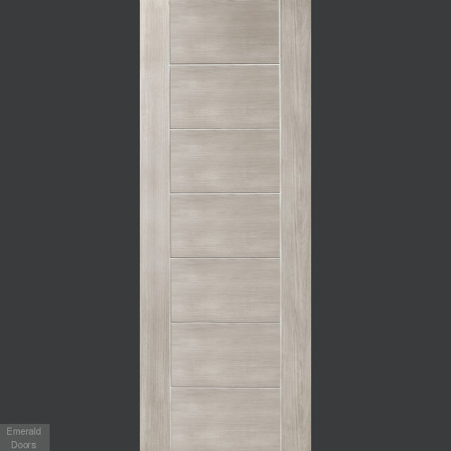 White Grey Laminate Palermo Fire Door