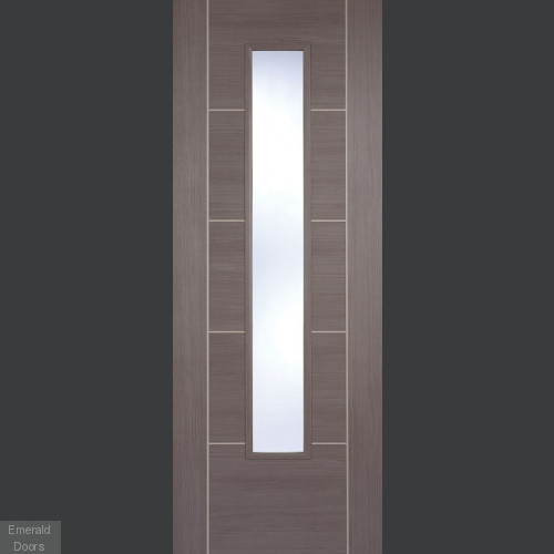 Vancouver Medium Grey Laminate Glazed Door