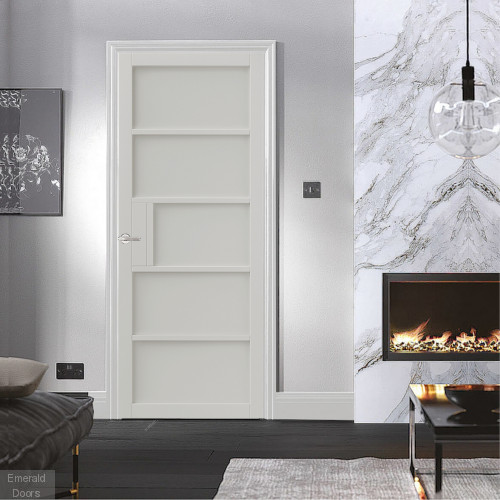 Metro Black 5P Industrial Style Door