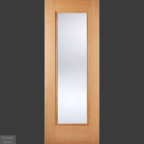 Oak Eindhoven Clear Glazed Internal Door