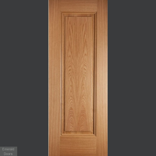 OAK EINDHOVEN 1 PANEL PREFINISHED FIRE DOOR