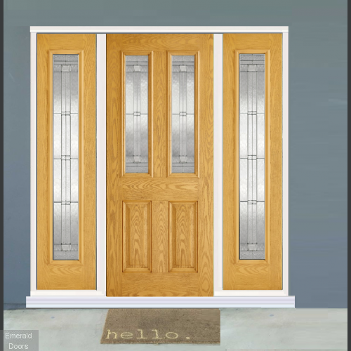GRP Oak Malton 2 Light Composite Grand Entrance Doors