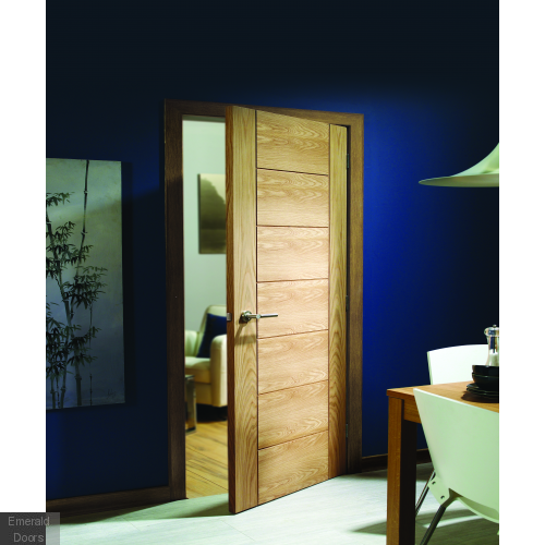 Palermo Oak Fire Door Unvarnished In Situ Image