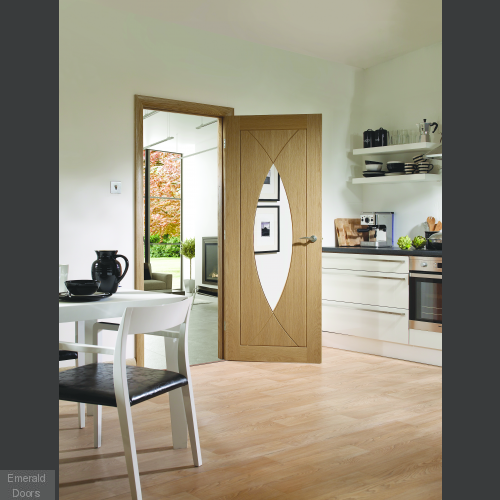 Pesaro with Clear Glass Fire Door