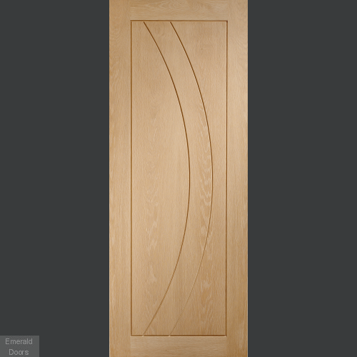 Salerno Oak Fully Finished Fire Door
