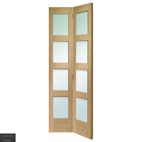 Shaker Bi-Fold with Clear Glass