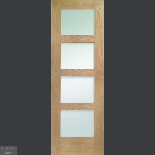 Oak Shaker 4 Light Single Room Divider with Matching Demi Panel