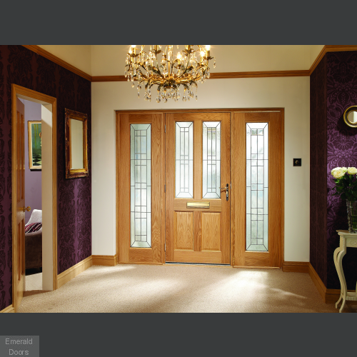 Oak Malton Diamond with Sidelights and Frame in Situ Image
