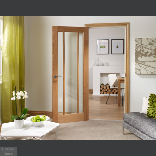 Worcester 3 Light Internal Oak Door with Clear Glass