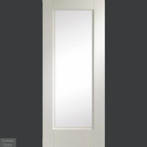 Custom Made 1L White Fire Door Obscure