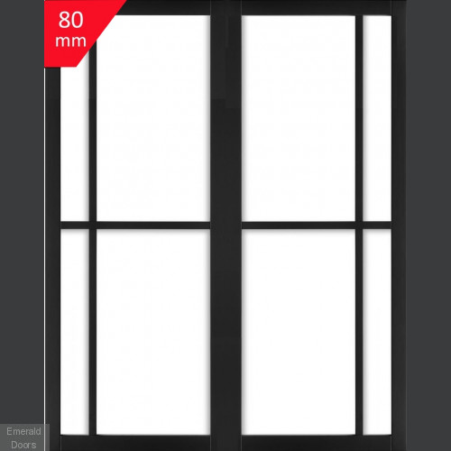 Industrial Style WK3136C Custom Made French Doors