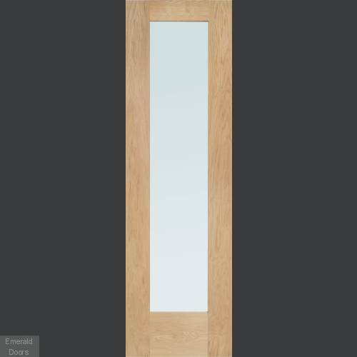 Oak Pattern 10 Single Solid Door Room Divider with Semi Panel