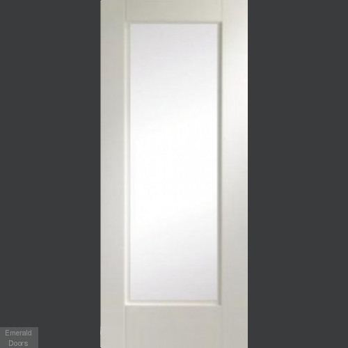 Custom Made 1L White Fire Door Clear