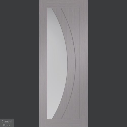timeless design a2896 99293 Salerno Light Grey Internal Door with Clear Glass