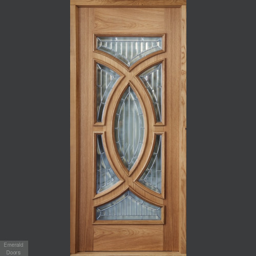 Majestic Oak Door with Sidepanels