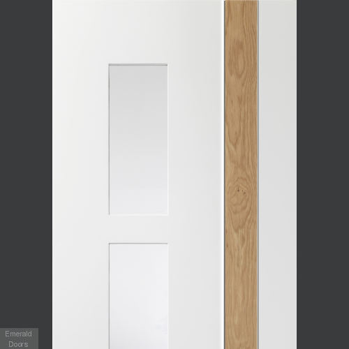 Praiano White Rustic Oak with Clear Glass