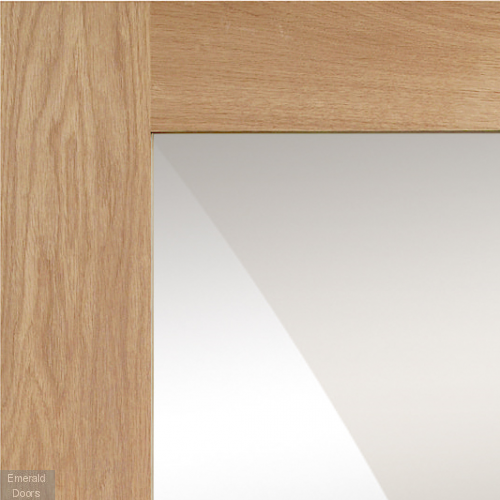 Pattern 10 Oak Door with Mirror