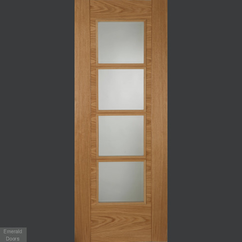Contemporary Oak 6500 4L Clear Glazed