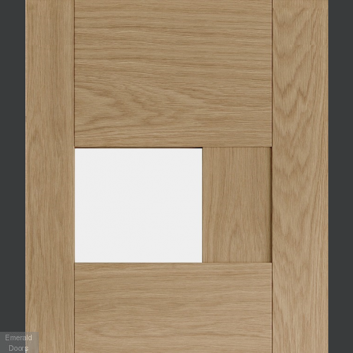Perugia Oak Internal Door with Clear Glass