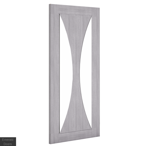 Sorrento Clear Glazed Grey Door Pair