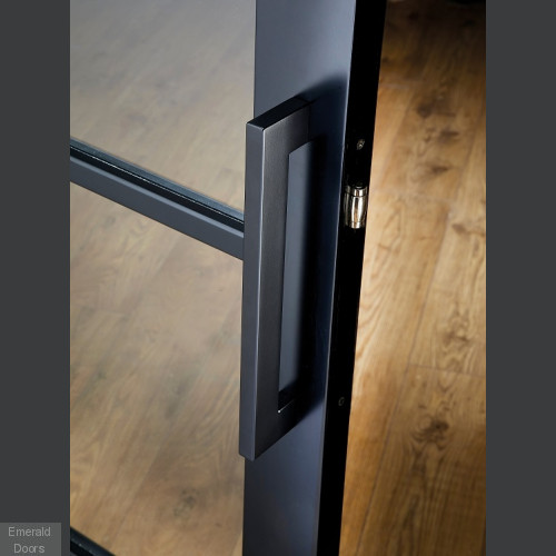 Charcoal Soho 4L Glazed Internal Door