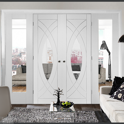 Buy White Treviso Double Door Room Divider With Side