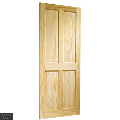 Clear Pine Victorian 4 Panel Fire Door