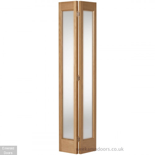 Custom Made Oak Marston Bifold Frosted Glass
