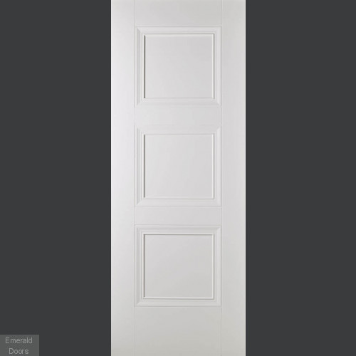 Amsterdam 3 Panel White Primed Internal Door