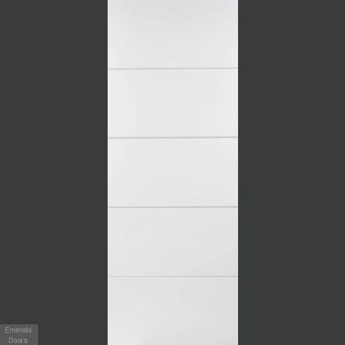 White Moulded 5 Panel Fire Door