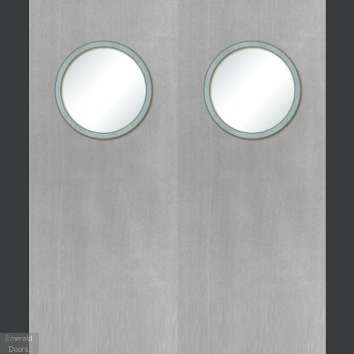 Buy Custom Made White Porthole Fire Door Pair Emerald Doors