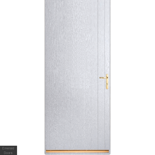 White Tongue and Groove External Fire Door Set