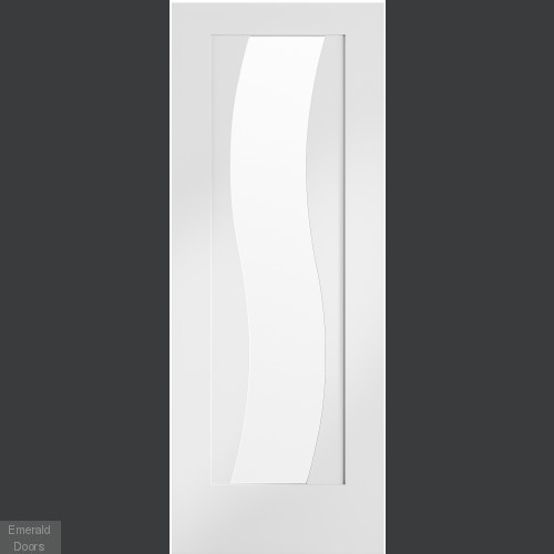 Pre-Finished Internal White Florence with Clear Glass