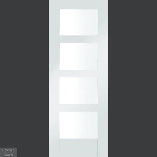 White Shaker 4 Light Room Divider with Side Panels
