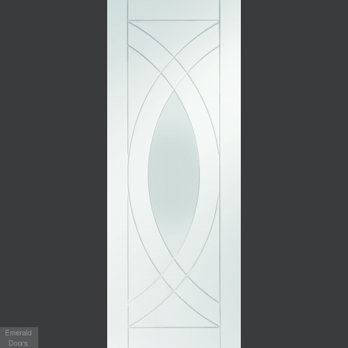 White Treviso Room Divider with Side Panels