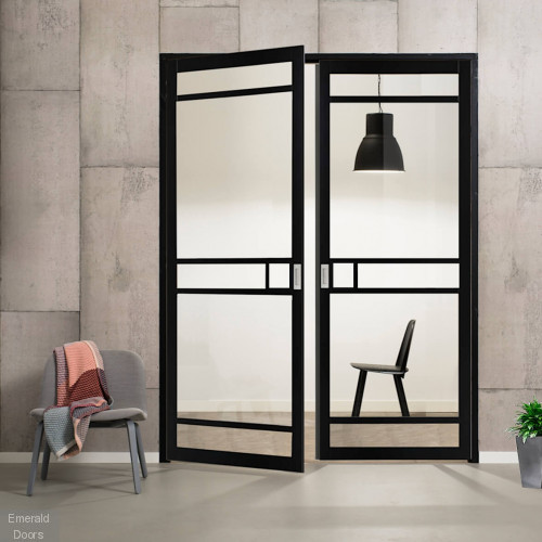 Industrial Style WK4136 Custom Made French Doors