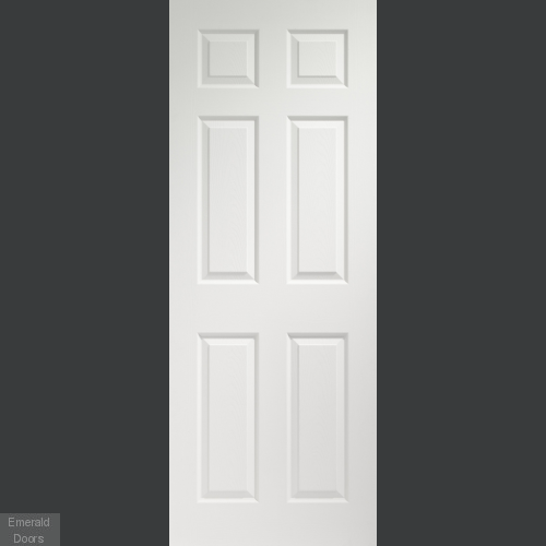 Colonist 6 Panel Internal White Moulded Door Pre-Finished